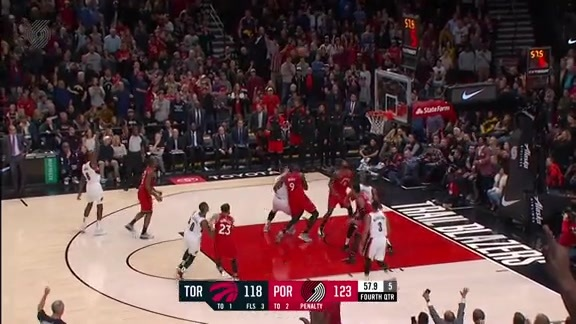 Highlights: Portland 128, Toronto 122