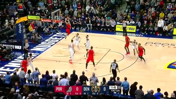 Blazers Open Game vs. Nuggets with a Nurkic to Layman Oop