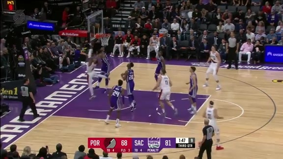 Trail Blazers 107, Kings 115