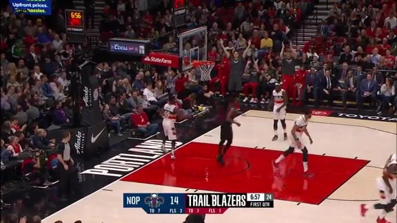 Blazers dunk all over Pelicans in the first half