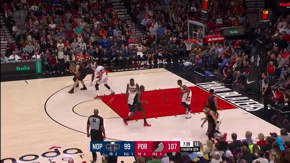 Highlights: Portland 128, New Orleans 112