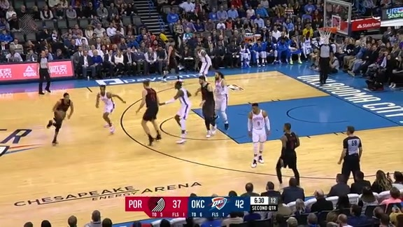 Lillard buries the deep three vs. Oklahoma City