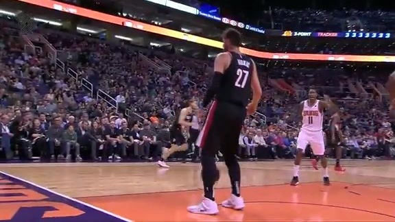 Nurk gets left alone and slams it home