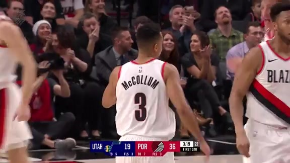 CJ McCollum tries to make a pass and ends up making a shot
