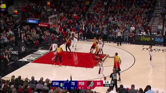 Highlights: Portland 132, Utah 105