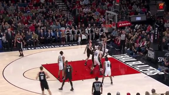 Rodney Hood scores his first points as a Blazer