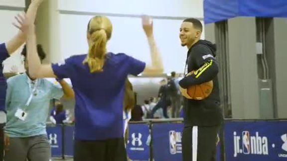 VIDEO » Seth Curry At Jr. NBA Day At All-Star Weekend