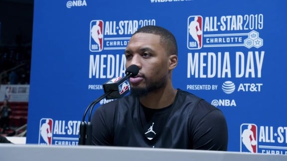 Damian Lillard All-Star Media Availability