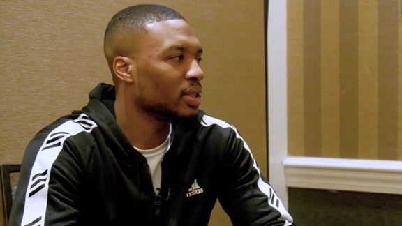 Damian Lillard Sits Down with Brooke Olzendam