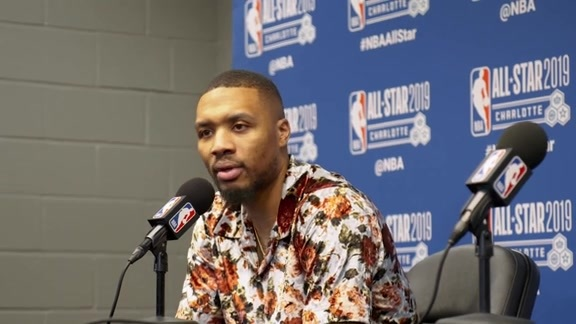 Damian Lillard's Press Conference After the All-Star Game
