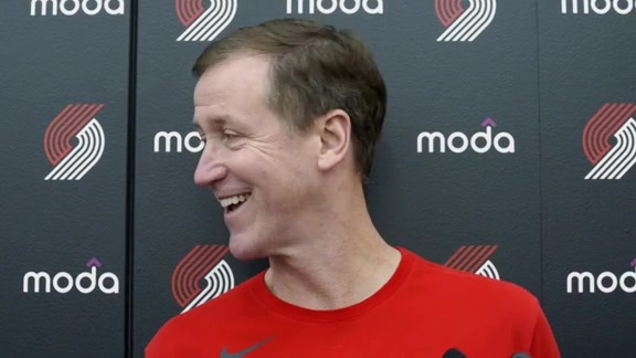 Stotts speaks with media at practice