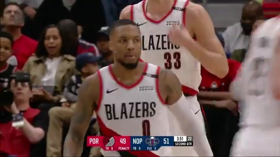 Damian Lillard passes LaMarcus Aldridge for 2nd All-Time Scoring in Franchise History