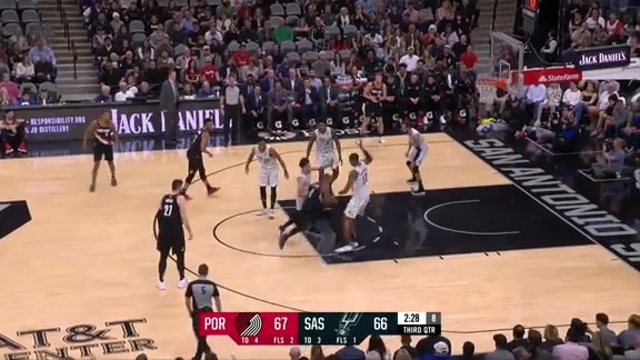 Lillard makes impossible layup through the contact