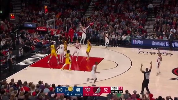 Lillard hits a three from the logo, Kevin Calabro goes nuclear