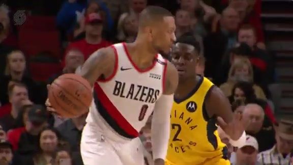 Damian Lillard (30 points and 15 assists) vs. Indiana Pacers