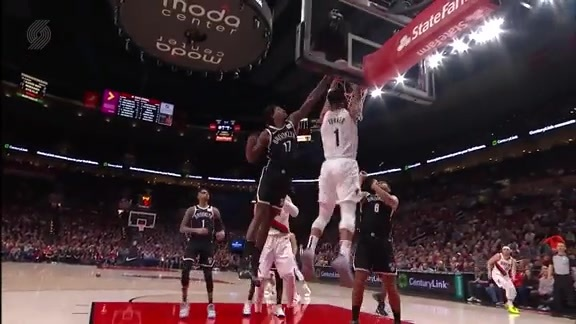 Turner dunks through the contact from Ed Davis