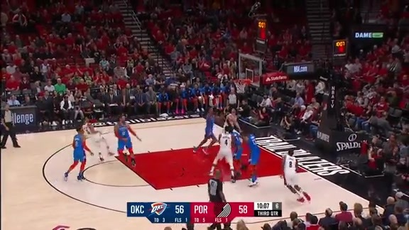 CJ McCollum (33 points) Highlights vs. Oklahoma City Thunder