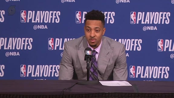 CJ McCollum Postgame Press Conference | Game 2