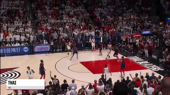 Damian Lillard's game-winner as heard on international TV