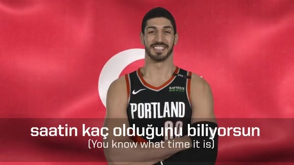 Turkish Lessons with Enes Kanter