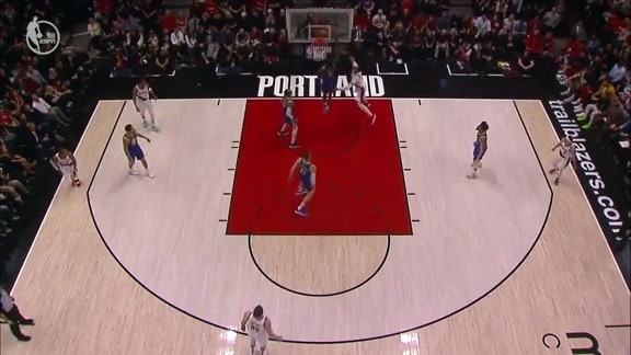 Collins finds Kanter with the quick touch pass