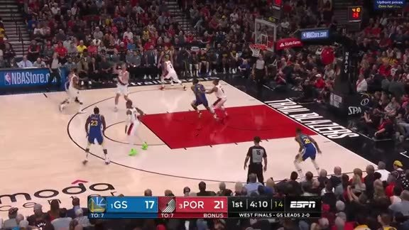 Highlights: Portland 99, Golden State 110
