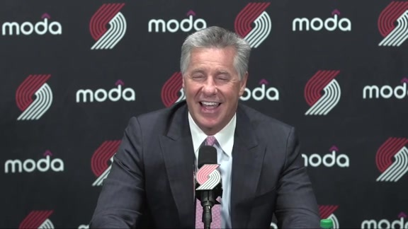 VIDEO » Neil Olshey Discusses Portland's 2019 Draft