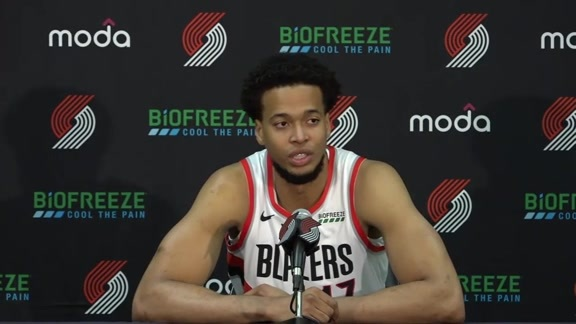 2019 Trail Blazers Media Day: Skal Labissiere