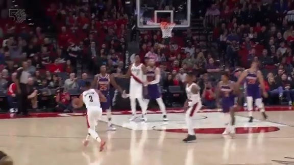 CJ puts up a prayer at the buzzer and it goes in