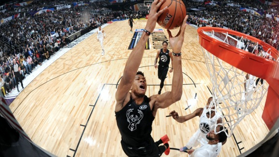 Giannis Antetokounmpo First Half All-Star Game Highlights
