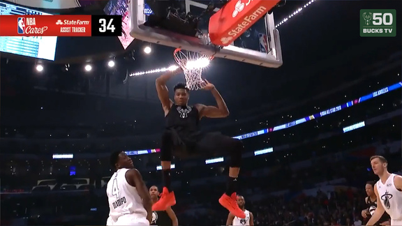 Giannis Enjoys Competitiveness of All-Star Game