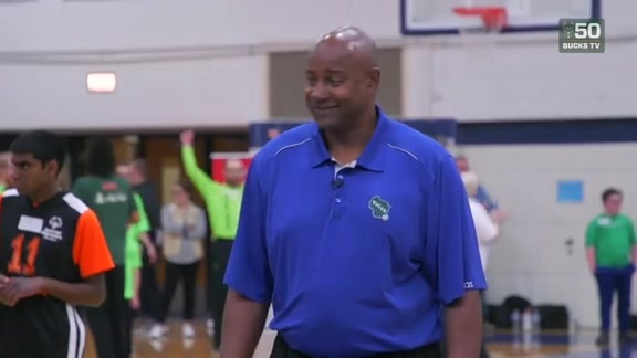Bucks Host Special Olympics Clinic With Sidney Moncrief
