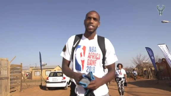 NBA Cares: Khris Middleton Helps Build A Home In South Africa