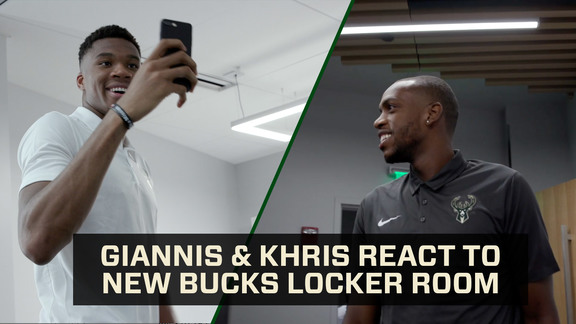 Giannis & Khris React To Fiserv Forum | MIDRANGE