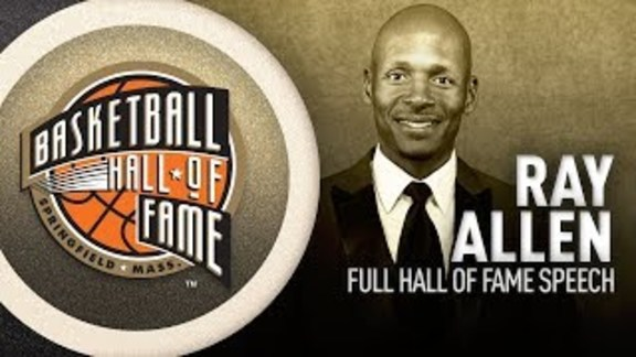 Ray Allen Hall of Fame Enshrinement Speech
