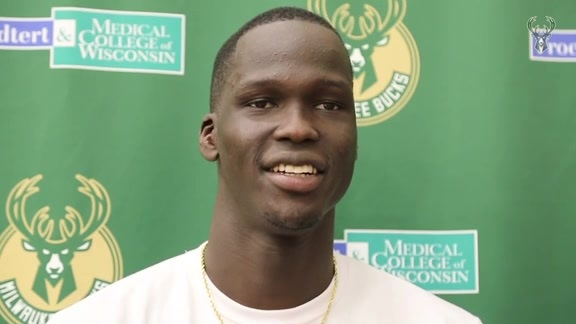 Thon Maker On The Opening Of Bucks Training Camp | 9.25.18