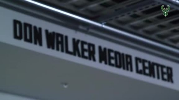 Milwaukee Bucks Dedicate Don Walker Media Center at Fiserv Forum