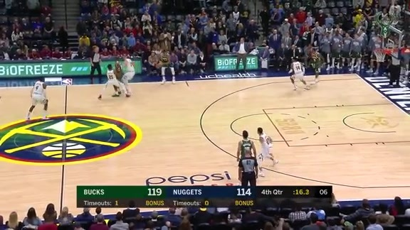 Game Highlights: Bucks 121 - Nuggets 114 | 11.11.18