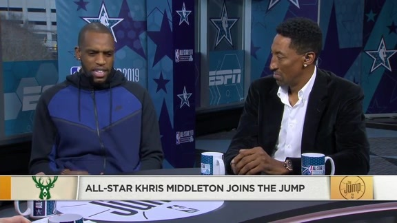 Khris Middleton Joins The Jump At NBA All-Star