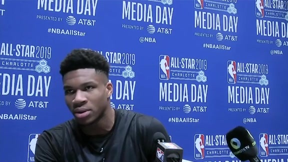 Giannis Antetokounmpo 2019 All-Star Media Day Interview