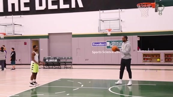 Khris Middleton Hosts Basketball Clinic