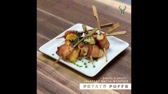 Fan Fuel: Sweet and Spicy Jalapeño Bacon-Wrapped Potato Puffs