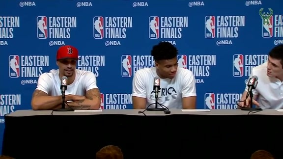 Giannis, Ersan and George Postgame Media Availability | 5.17.19