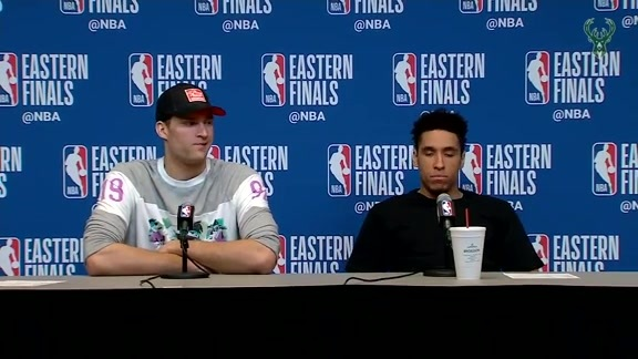 Malcolm Brogdon and Brook Lopez Postgame Media Availability | 5.23.19