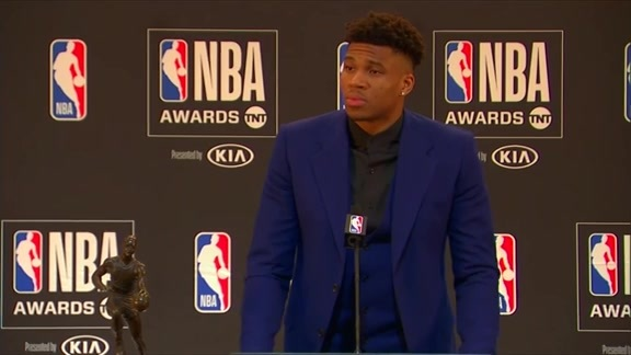 Giannis Antetokounmpo MVP Media Availability