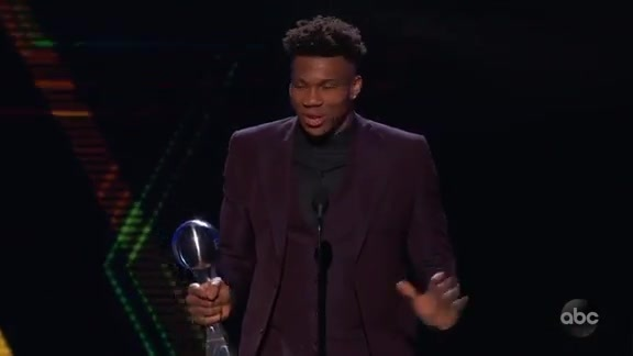 Giannis Wins ESPY For Best Male Athlete