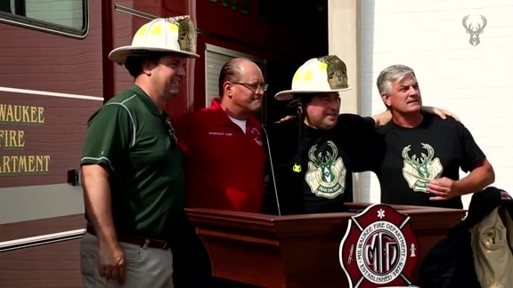 Bucks & Milwaukee Fire Department Launch Co-Branded T-Shirt