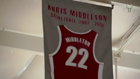 Khris Middleton's High School Jersey Retirement