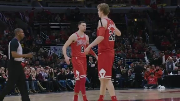 Closer Look: LaVine Ends the First Half with Three (& one!)