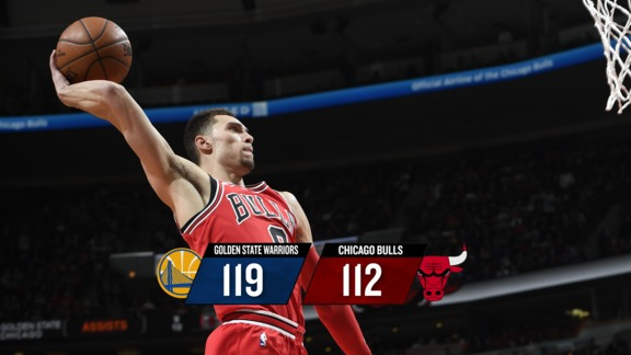 BullsTV Recap: Warriors 119, Bulls 112 - 1.17.18